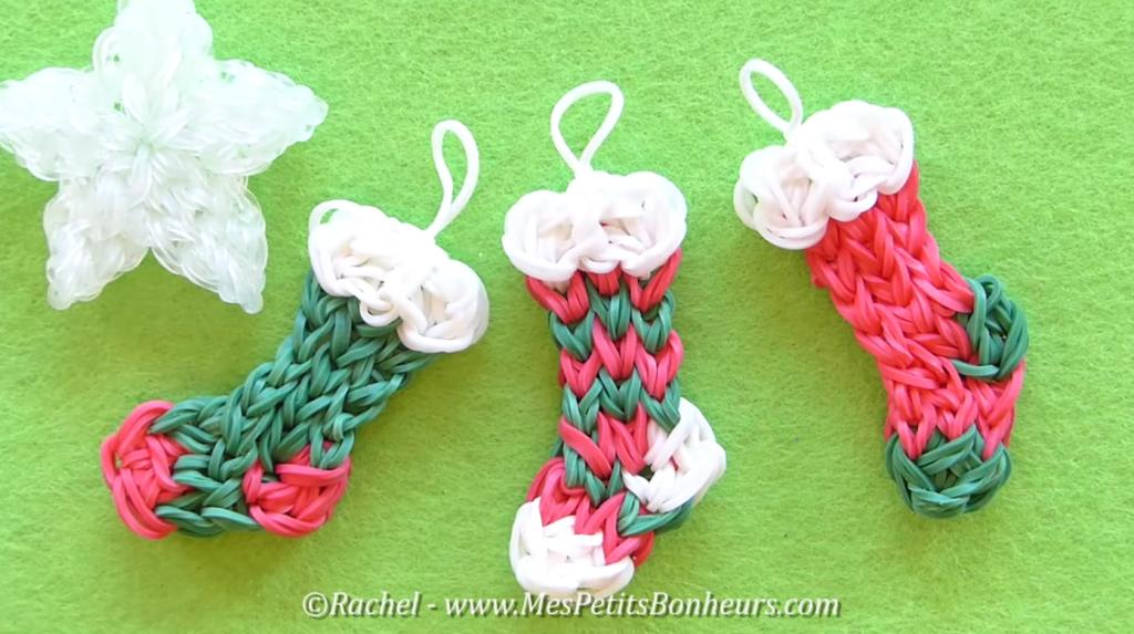 chaussette de Noël Rainbow Loom