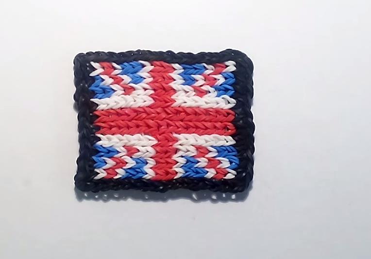 r alisation du drapeau du royaume uni en mural rainbow