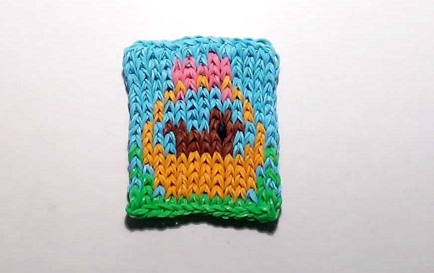 Tutoriels rainbow loom for Mural en elastique