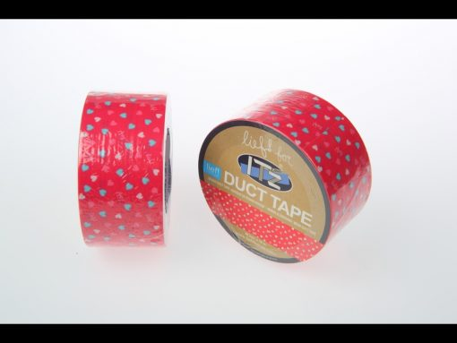 motif LIEF coeurs roses it'z duct tape