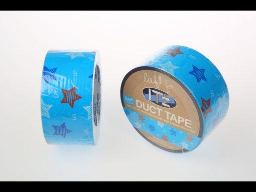 motif LIEF étoiles bleues it'z duct tape