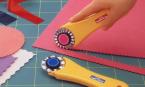 cutter rotatif OLFA avec lammes décoratives