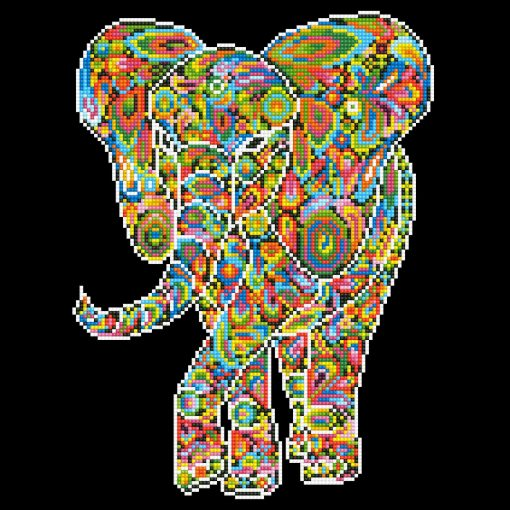 DD8.003KaleidoscopeElephant