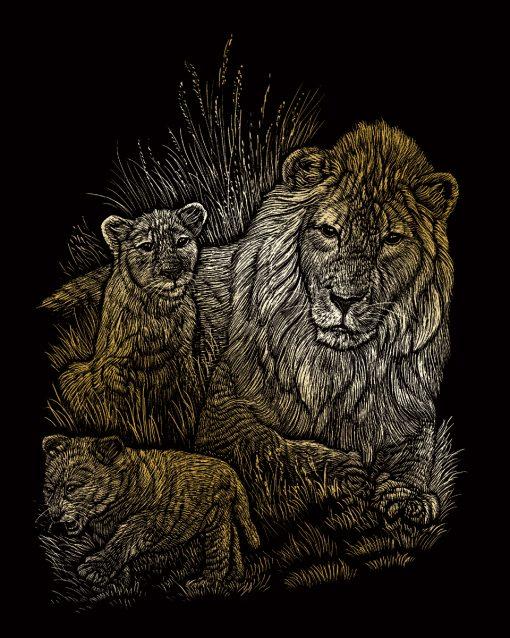 GOLF14 La lionne et ses petits