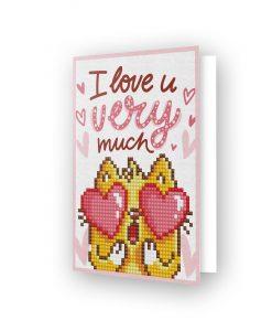 Carte de voeux I Love You DDG.002
