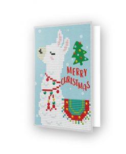 Carte de voeux Noël Lama DDG.003