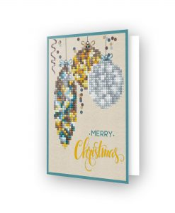 Carte de voeux boule de Noël jaune DDG.009