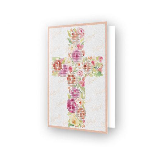 Carte de voeux Carte Croix fleurie DDG.012