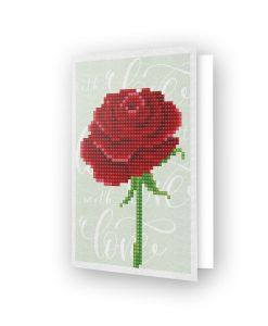 Carte de voeux Rose d'amour DDG.017