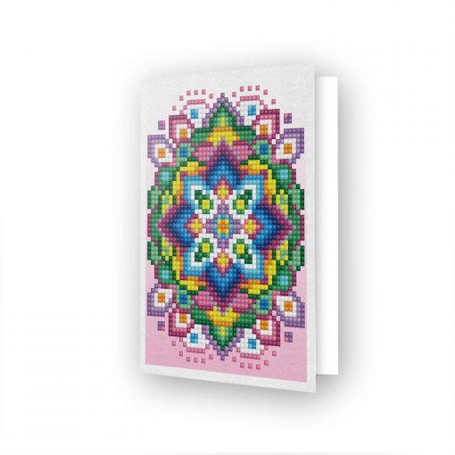 Carte de voeux Etoile rose DDG.024